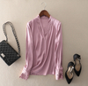 Breathable Pink Silk Blouse for Lady in Summer