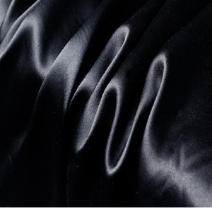 Black Patterned Silk Fabric for Luxurious Silk Pillowcase