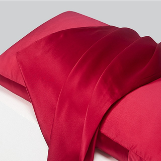 Country Road Red Silk Body Pillow Case in Envelope Style