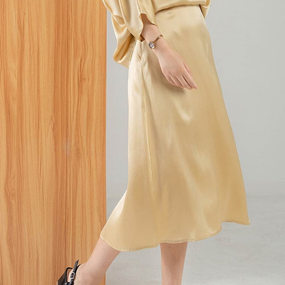 Long Womens Silk Satin Skirt Outfits
