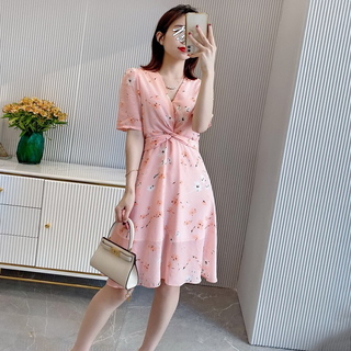 Amazon Pink Silk Wrap Summer Dress for Girls