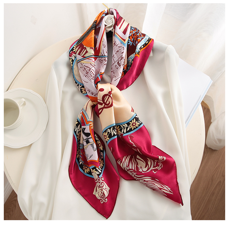 Wholesale Luxury Pure Silk Scarf for Ladies Head Wrap